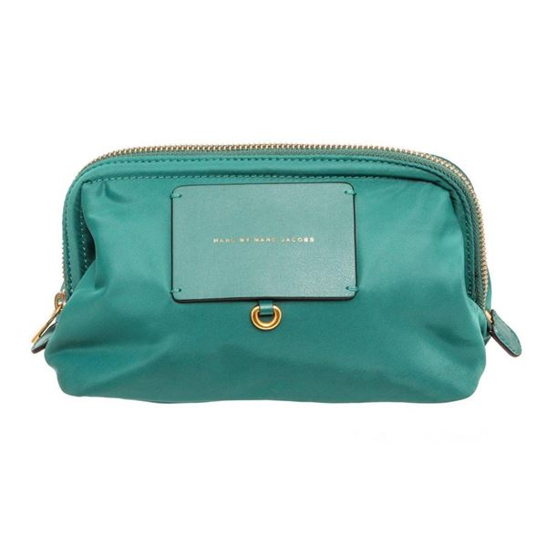 Marc By Marc Jacobs Green Nylon Preppy Cosmetic Pouch