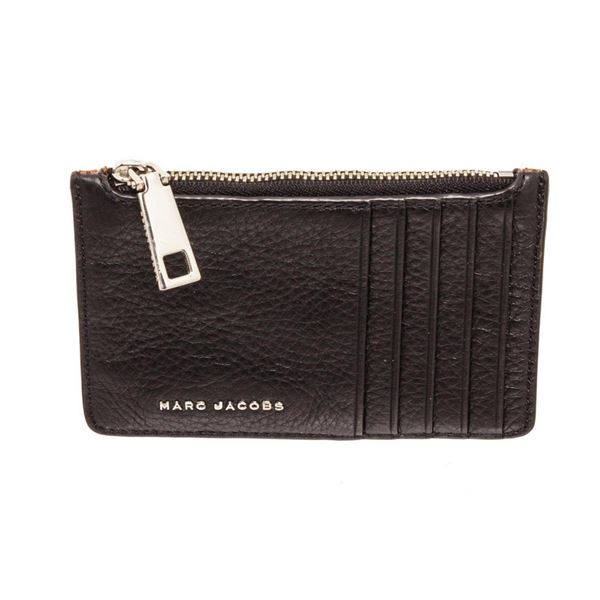 Marc Jacobs Black  Brown Perry Zip Wallet