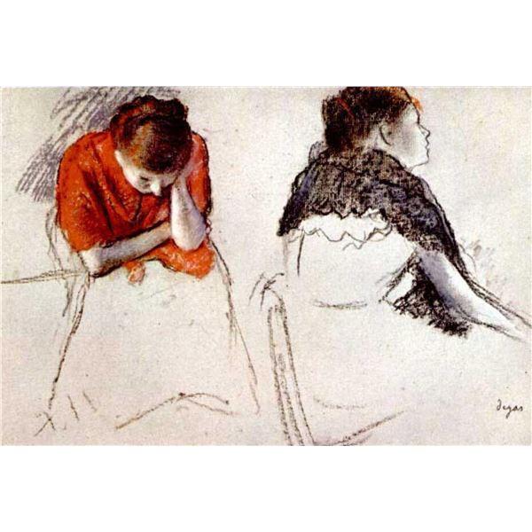 Edgar Degas - Two Women Seated