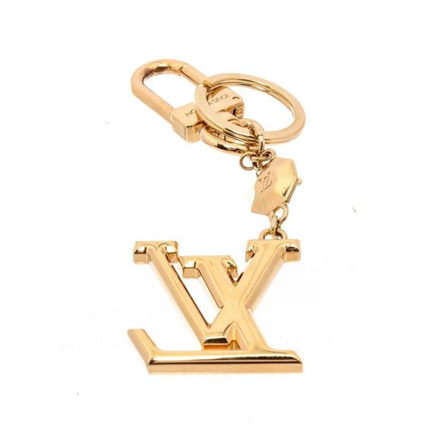 Louis Vuitton Gold LV Initials Key Holder