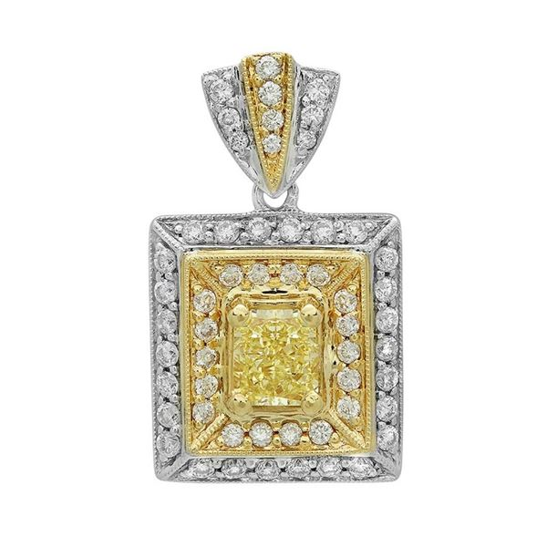 18k Gold 1.25CTW Diamond Pendant, (VS1 /VS1-VS2/G-H)