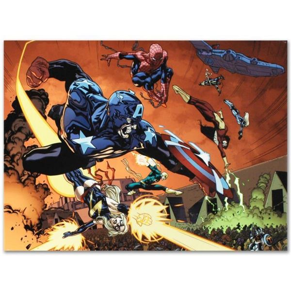 "Marvel Comics ""New Avengers #59"" Numbered Limited Edition Giclee on Canvas by St"