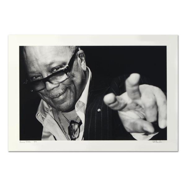 "Rob Shanahan, ""Quincy Jones"" Hand Signed Limited Edition Giclee with Certificate"
