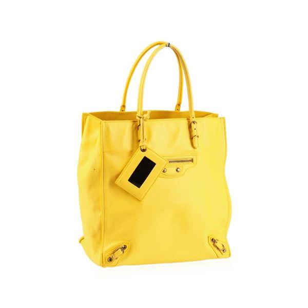 Balenciaga Mini Papier Yellow Tote