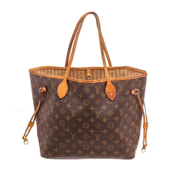 Louis Vuitton Brown Neverfull MM Tote Bag