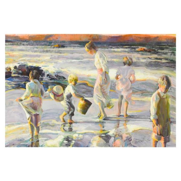 "Don Hatfield, ""Frolicking at the Seashore"" Limited Edition Serigraph on Canvas,"