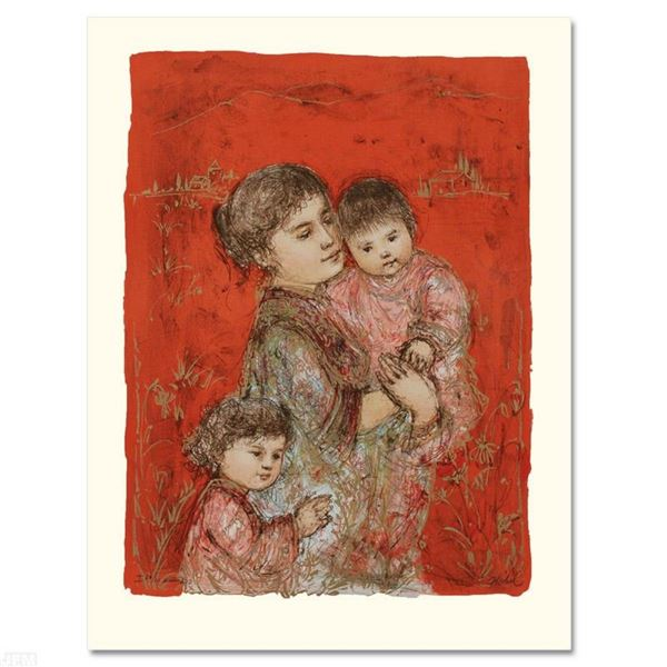 """Lorelei and Children"" Limited Edition Lithograph by Edna Hibel (1917-2014), Num"