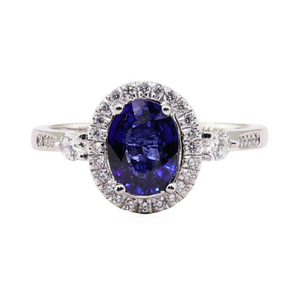 1.54 ctw Tanzanite and Diamond Ring - Platinum