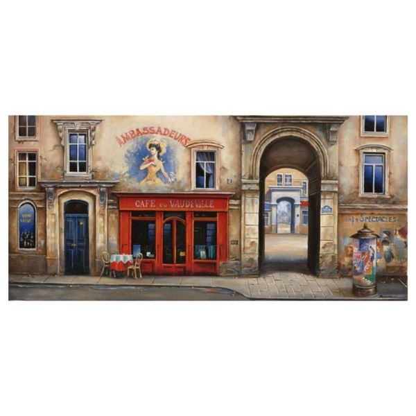 "Alexander Borewko, ""Cafe Du Vaudeville"" Hand Signed Limited Edition Giclee on Ca"