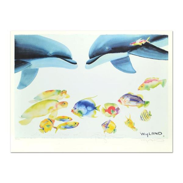 "Wyland and Tracy Taylor, ""Who Invited These Guys?"" Limited Edition Lithograph, N"