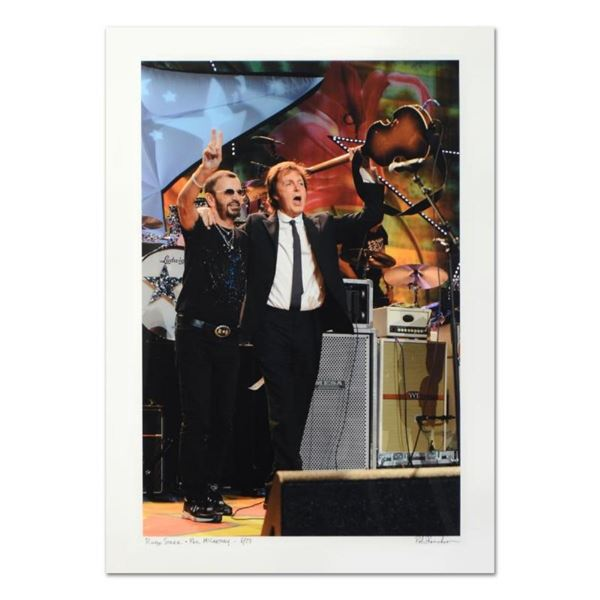 "Rob Shanahan, ""Ringo Starr & Paul McCartney"" Hand Signed Limited Edition Giclee"