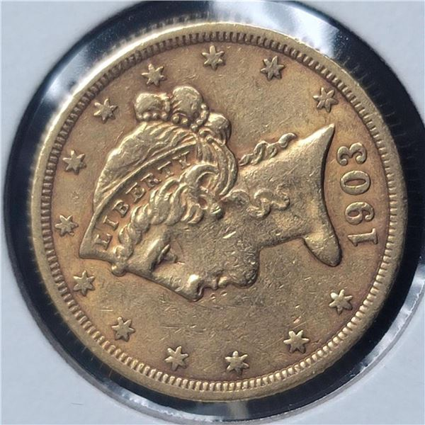 1903-S $5 Liberty Head Half Eagle XF