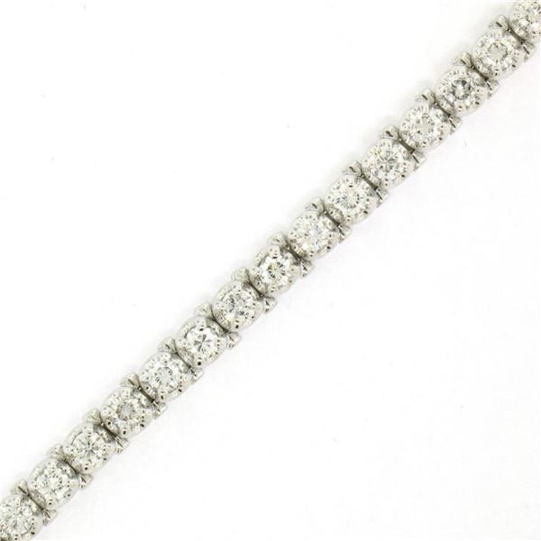 18kt White Gold 3.48 ctw Diamond Line Tennis Bracelet