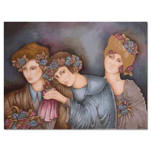 """Haya Ran, """"Brides maids"""" Hand Signed Limited Edition Serigraph with Letter of Au"""