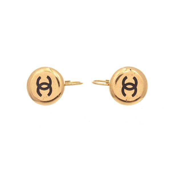 Chanel Gold CC Earrings