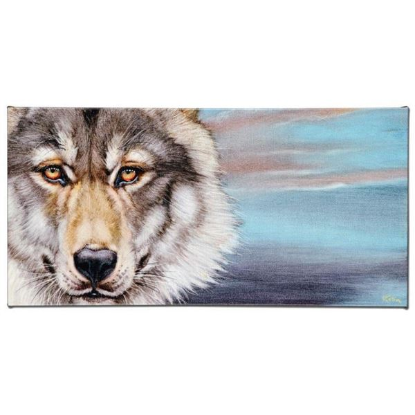 """Wolf"" Limited Edition Giclee on Canvas by Martin Katon, Numbered and Hand Signe"
