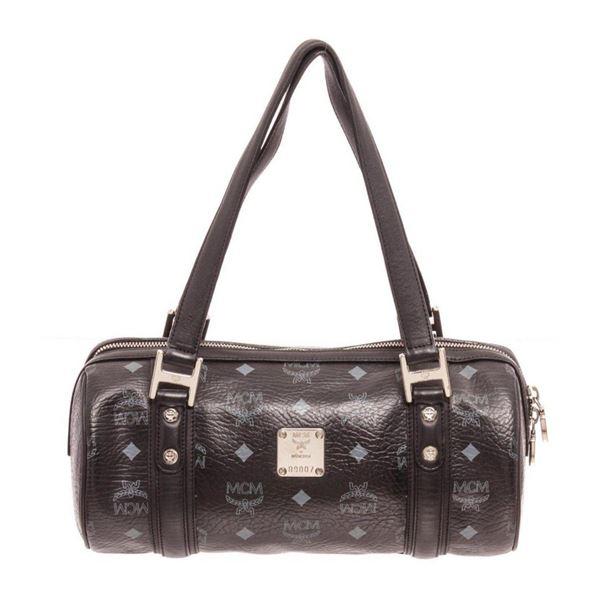 MCM Black Visetos Coated Canvas Bedford Shoulder Bag