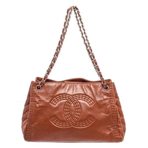 Chanel Brown Caviar Leather Chain CC Shoulder Bag