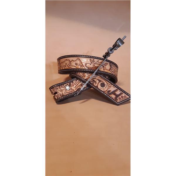 Custom Leather Belt and Rifle Sling