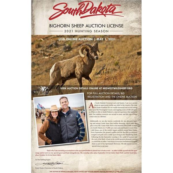 South Dakota Bighorn Auction License