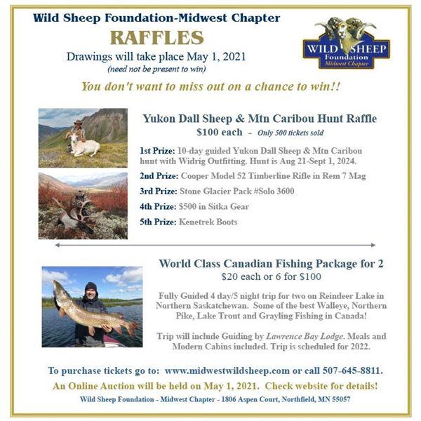 Yukon Dall Sheep & Mtn Caribou Hunt Raffle
