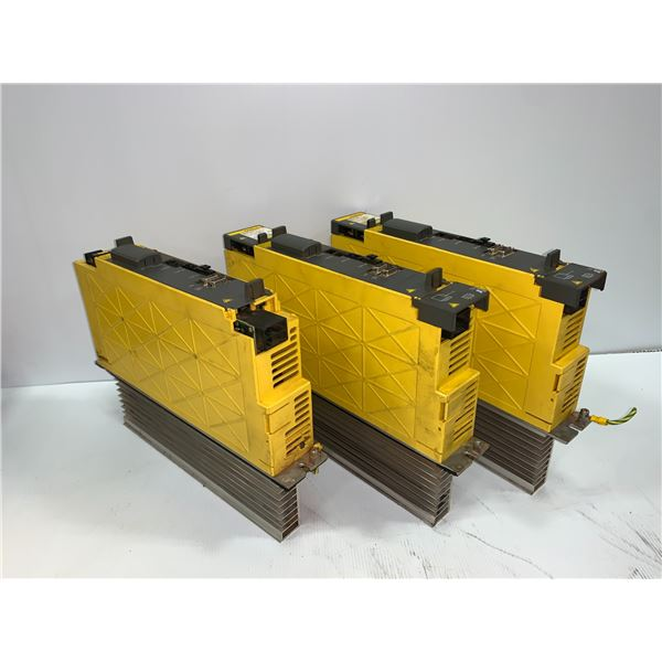 (3) - FANUC A06B-6114-H105 SERVO AMPLIFIER MODULES