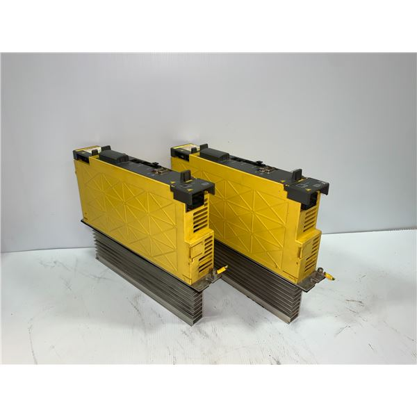 (2) - FANUC A06B-6114-H105 SERVO AMPLIFIER MODULES