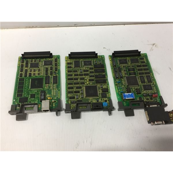 (3) FANUC A20B-8100-0670 ETHERNET CIRCUIT BOARD