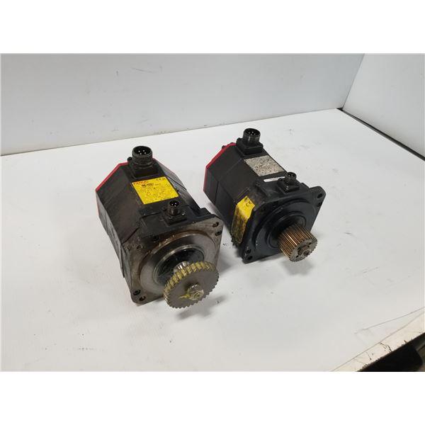 (2) FANUC A06B-0235-B605 AC SERVO MOTOR