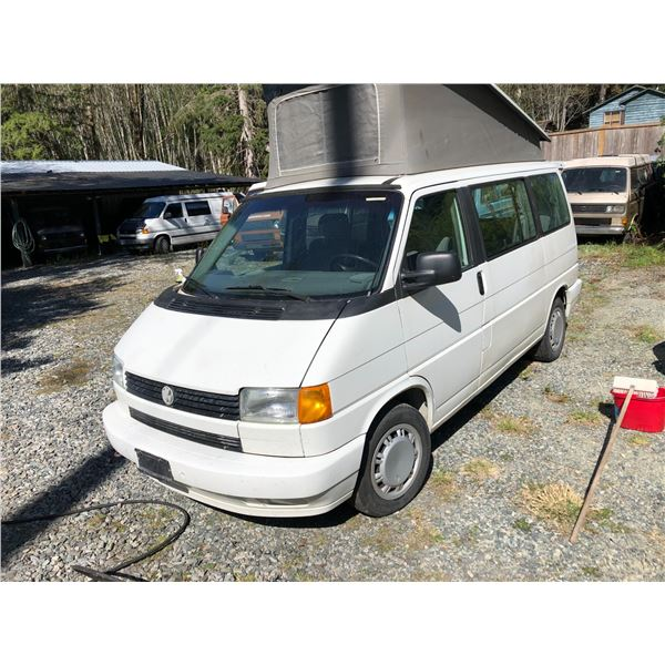 1994 VW WESTFALIA WEEKENDER - WHITE, VIN# WV2MD0708RH000937, 286318KM, RD/CD/PW/CC, COMES WITH