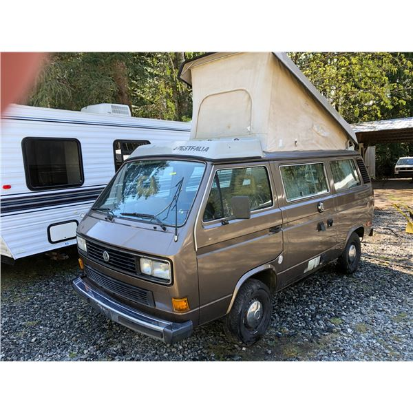 1985 VW WESTFALIA VANAGON GL, BRONZE - VIN# WV2ZB0257GH035108, 375556KM AUTOMATIC, COMES WITH NEW