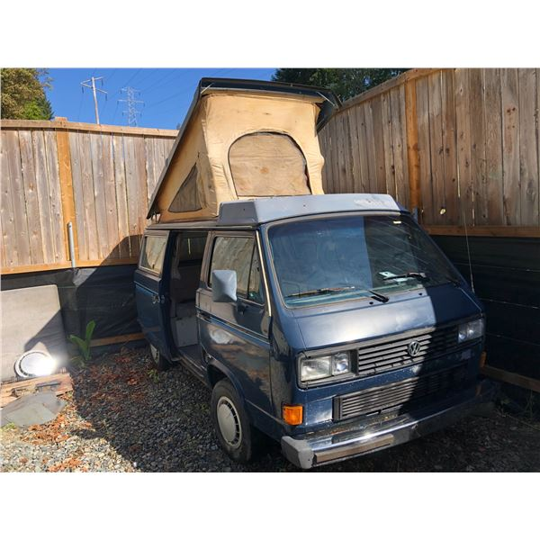 1987 VW WESTFALIA VANAGON FULL CAMPER, VIN# WV2ZB0257HH108947, 341593KM, AUTOMATIC, FACTORY AIR,