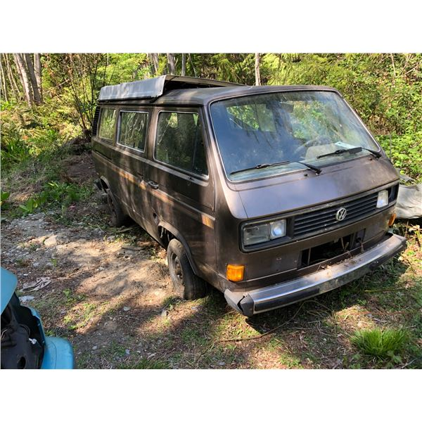 1987 VW VANAGON GL PANEL VAN, BROWN, VIN# WV2YB0259HH059178, NO MOTOR, NO INTERIOR, LITTLE SURFACE