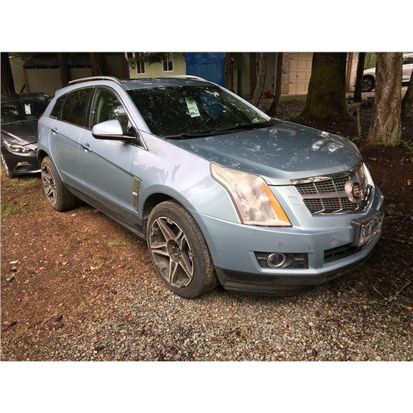2011 CADILLAC SRX SUV, BLUE, VIN# 3GYFNBEY1B5569323, 84285KM,