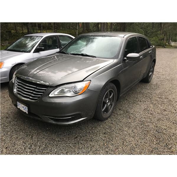 2012 CHRYSLER 200 4 DOOR SEDAN, GREY, VIN# 1C3CCBA0CN171763, 39388KM, 24L ENGINE,