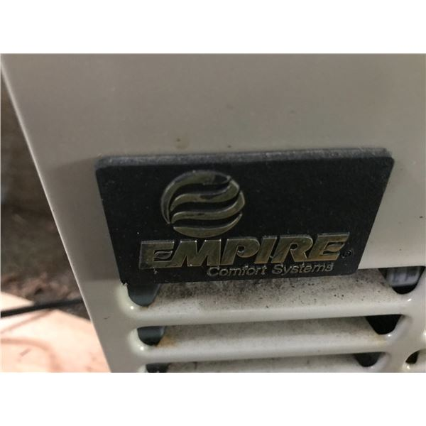 EMPIRE PROPANE DIRECT VENT WALL FURNACE 10000 BTU 16.25 IN X 21.5 IN H  X 9.5 IN D WITH THERMOSTAT