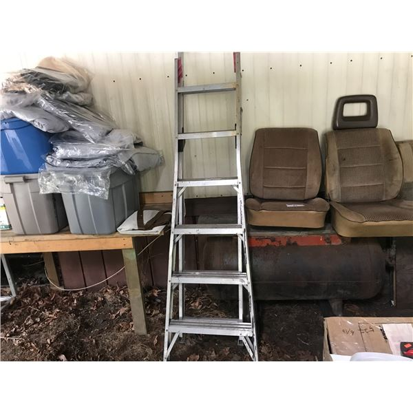 2 ALUMINUM LADDERS 6' STEP LADDER & 18' EXTENSION LADDER *NANAIMO*