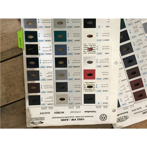 SET OF VW/AUDI COLOR CODE CARDS - VERY RARE HARD TO FIND *NANAIMO*