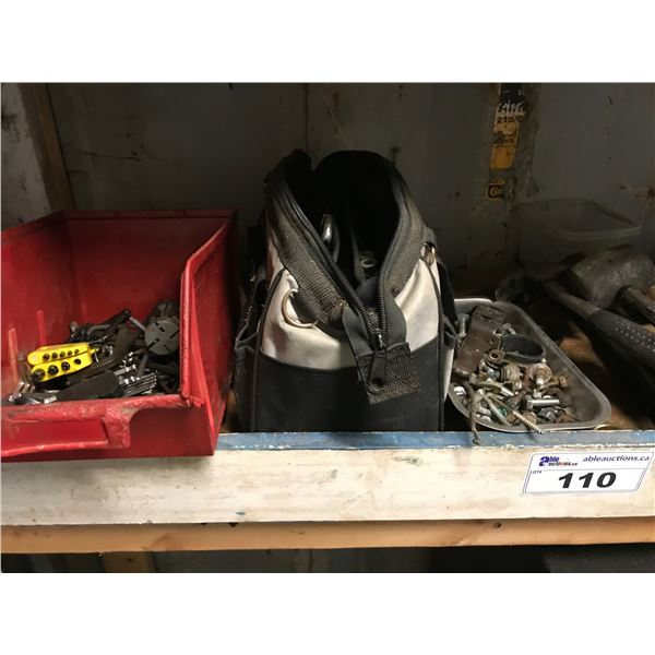 SHELF LOT OF ASSORTED TOOLS (5 HAMMERS, 6 CRESCENT WRENCHES) *NANAIMO*