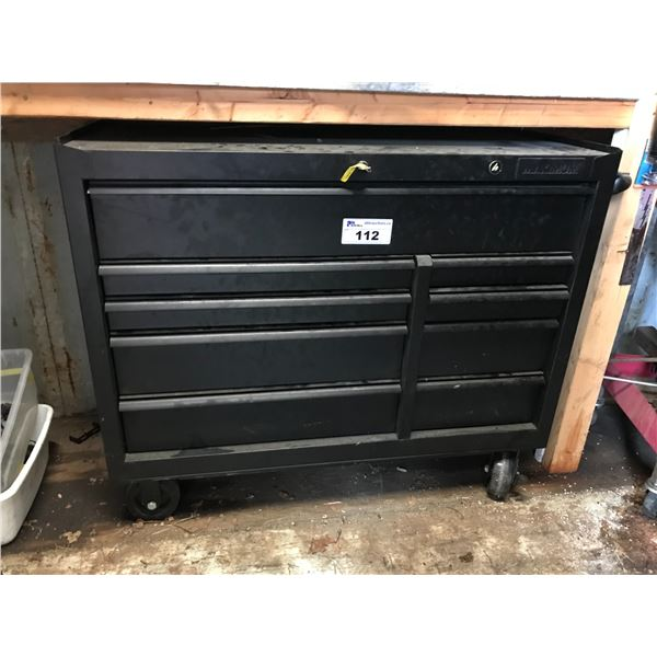 """MAXIM ROLLING TOOL CHEST 42""""W (9 DRAWERS) LOADED WITH ASSTD TOOLS (SCREW DRIVERS, WRENCHES, DIE"""
