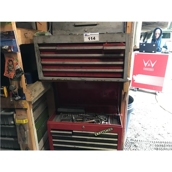 2 MASTERCRAFT TOO BOXES WITH ASSORTED TOOLS (WRENCHES, SCREW DRIVERS, ALLEN KEYS ETC) *NANAIMO*