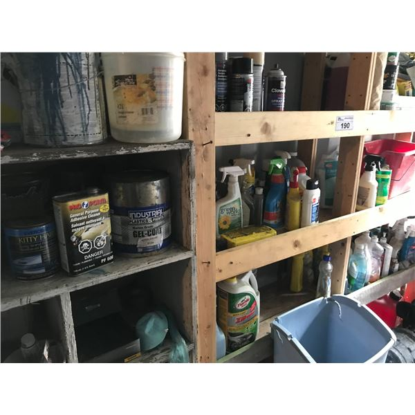 LARGE LOT OF CAR WAX, CLEANING SUPPLIES, SOLVENTS, SAND PAPER & TOUCH UP PAINT *NANAIMO*