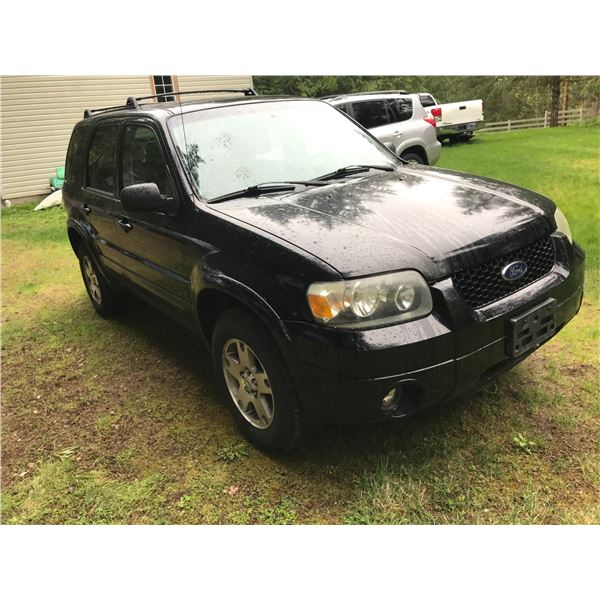 2005 FORD ESCAPE LIMITED SUV, BLACK, VIN# 1FMCU94145KD28070, 90236Miles, 6 CYL, AUTOMATIC,