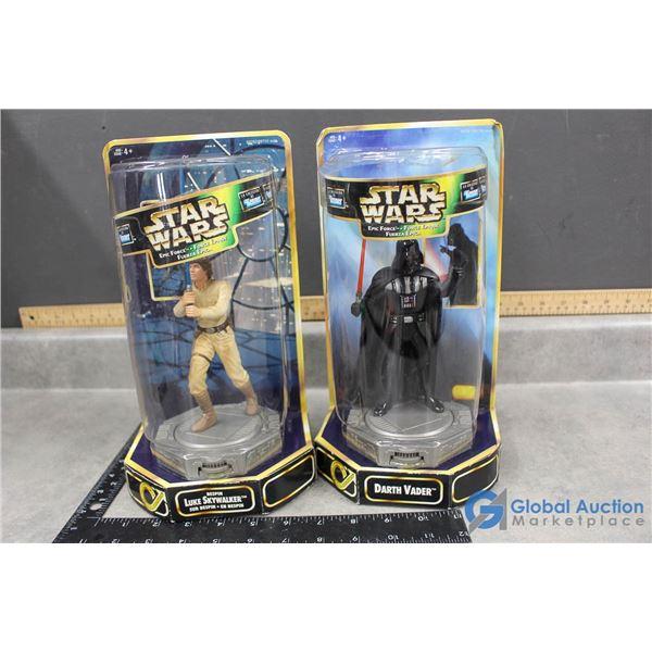 Star Wars Darth Vader & Luke Skywalker Figurines in Package