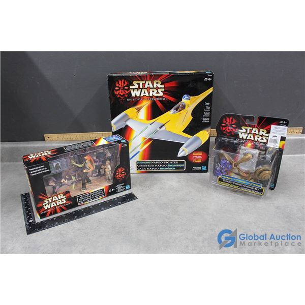 (3) Star Wars Toys in Packages