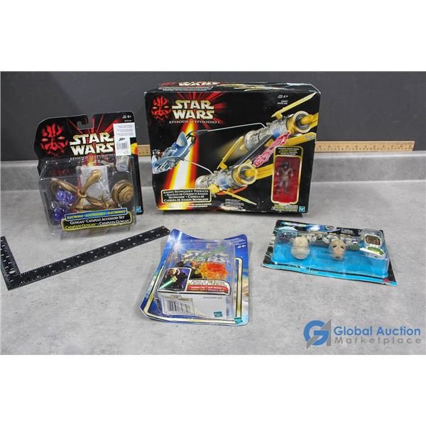 (4) Star Wars Toys in Packages