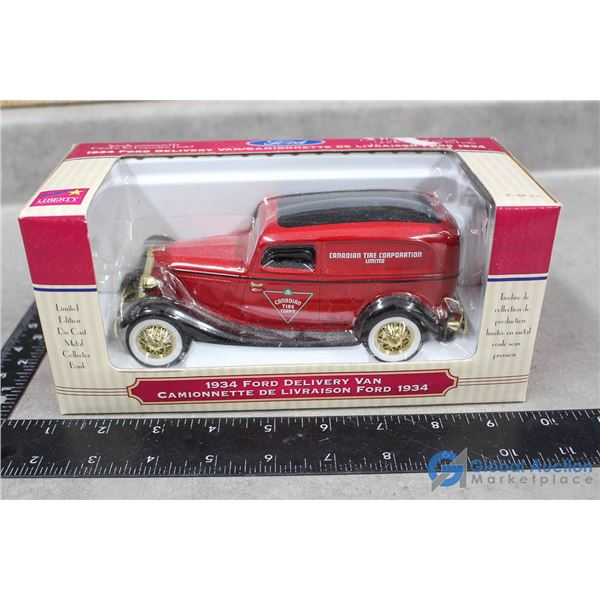 1934 Canadian Tire Ford Delivery Van Model in Box