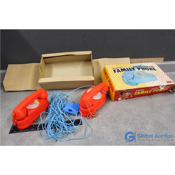 Plastic Family Phone w/Original Box