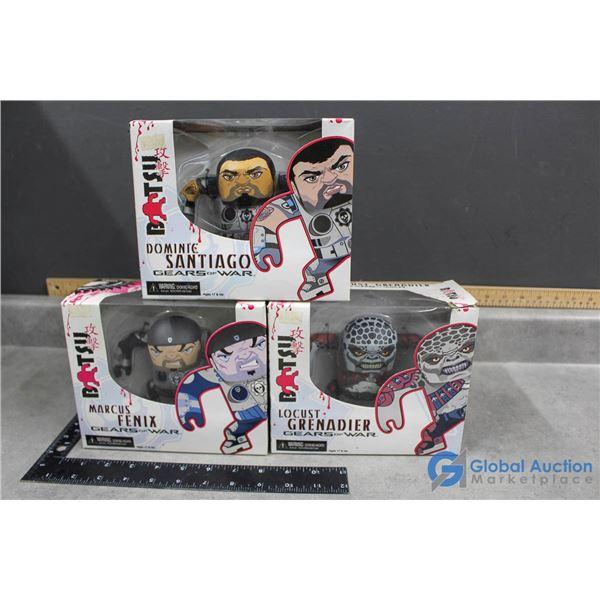 (3) Gears of War Figurines in Box