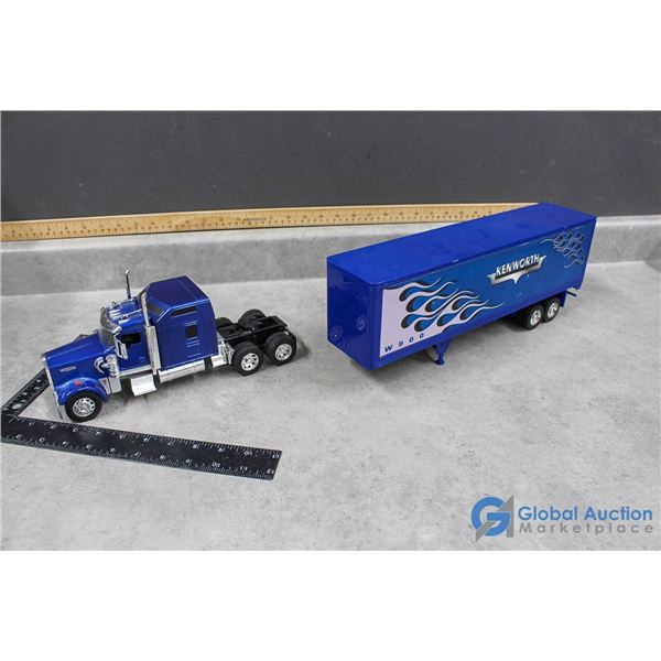 Kenworth Semi Truck and Trailer